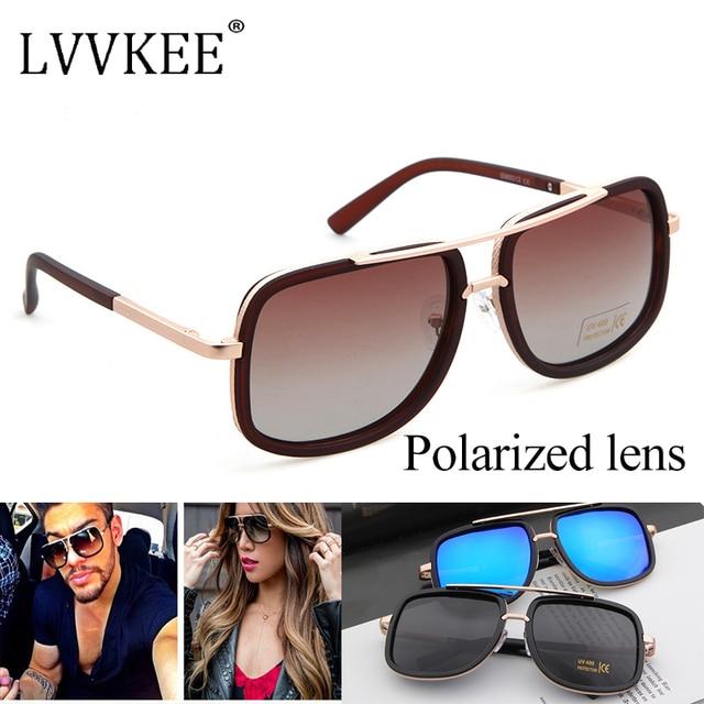 Clássico Marca Desinger Celebridade Praça lente Polarizada Óculos De Sol  das mulheres homens UV400 óculos d41ef4c7d8