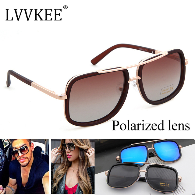 a5988c938 Classic Marca Desinger Celebrity Square lente Polarizada gafas de Sol  mujeres/hombres UV400 Gafas de