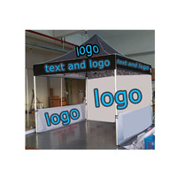 Wholesale Pop Up Canopy Marquee Custom Logo Printed Trade Show Advertising Folding Tent 10*10 ft with walls