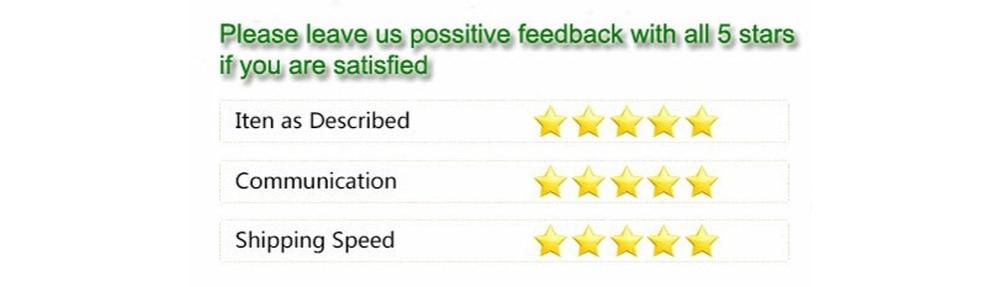 5星反馈模板