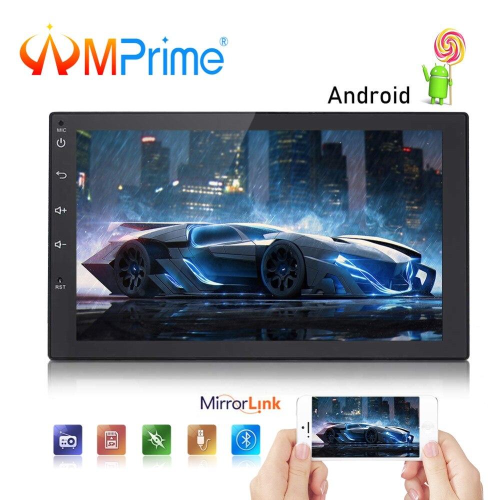 AMPrime Android 2 Din Car Radio 7 GPS Navigation Autoradio Wifi USB Mirrorlink Audio Multimedia Player GPS BT DVR Car Stereo