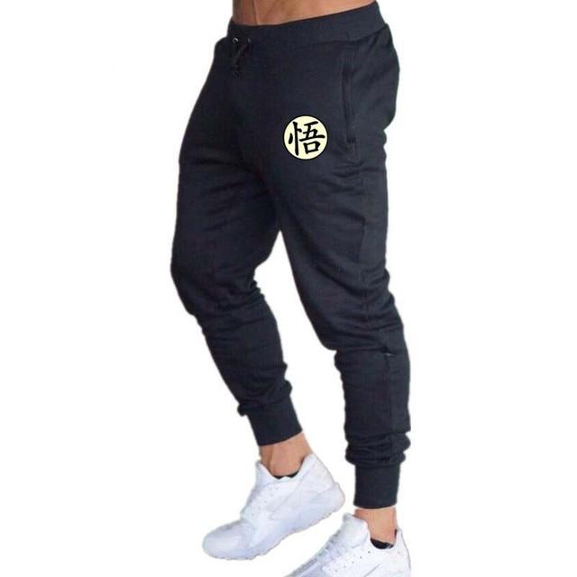 Casual Funny Print Dragon Ball Goku Mens Pants Cotton Autumn Winter Gray Men  Joggers Sweatpants Plus Size Black Trouser pantalon c7b2f56b709