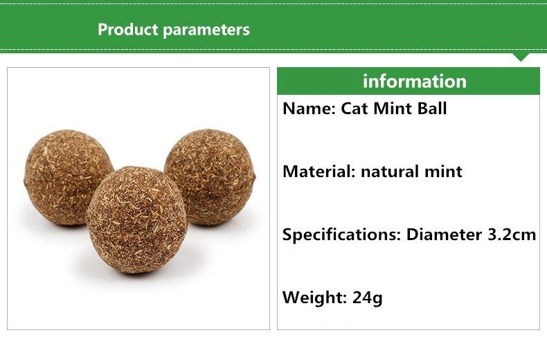 Pure Natural Catnip Ball Toy
