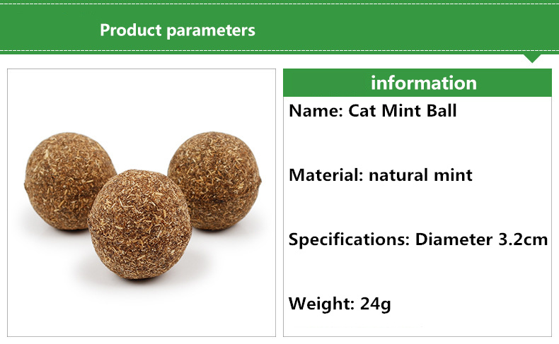 Pure Natural Catnip Ball Toy