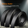 Scratch simulation leather belt men's leather belt embossed with Article automatic black body width 3.5CM
