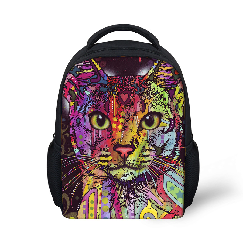 12-Inch Small Backpack for Baby Girls Kindergarten School Back Pack Bags Mochila Infantil Cartooon Skull Printing Backpacks Bag