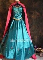 Disfraces elsa dress adult princess elsa costume carnival costumes for women party dresses Custom with free crown