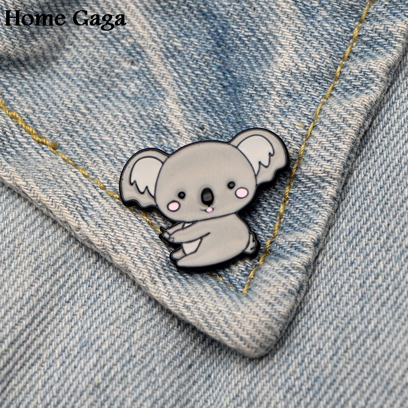 Cheap Price Homegaga Koala Bear Diy Zinc Tie Cartoon Funny Pins Backpack Clothes Brooches For Men Women Hat Decoration Badges Medals D1595 Extremely Efficient In Preserving Heat Arts,crafts & Sewing Home & Garden
