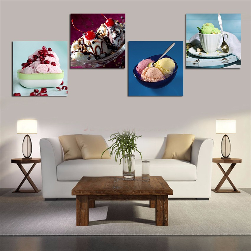 Toothsome Delicious Icecream Canvas Printing For Living Room Modern Paintings Wall Pictures Tableau Peinture Sur Toile Cool Gift