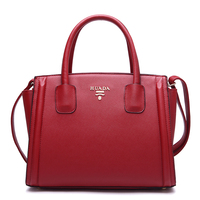 2018 Fashion High Quality Women Saffiano Handbags Red Genuine Leather Shoulder Bags Ladies Famous Brands Tote Bags HD201468