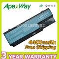 Apexway 6 células 4400 mah bateria as07b31 as07b41 as07b51 as07b61 as07b71 para acer aspire 5315 5920 5920g 6930 6930g 5520 7720
