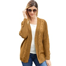 Casual winter knitted cardigan sweater Women gray loose sweater cardigan Female 2018 autumn white sweater cardigan outerwear