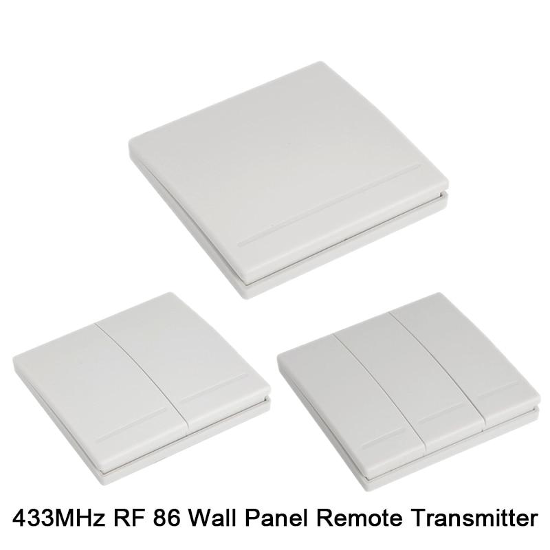 QIACHIP RF WIFI Wireless 10A IOS Android 2200W AC 90-250V Smart Home Light  Switch Module + 86 Wall Panel Wireless Transmitter