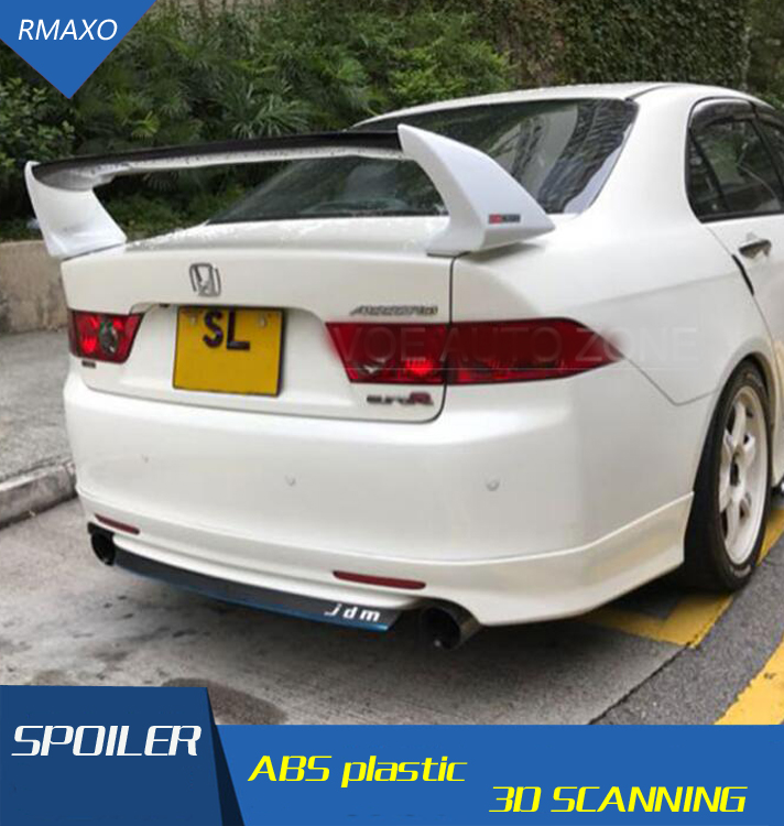 For HONDA ACCORD EURO-R(CL7) Spoiler ABS Material Car Rear Wing Primer Color Rear Spoiler For ACCORD EURO-R Spoiler 2003-2007