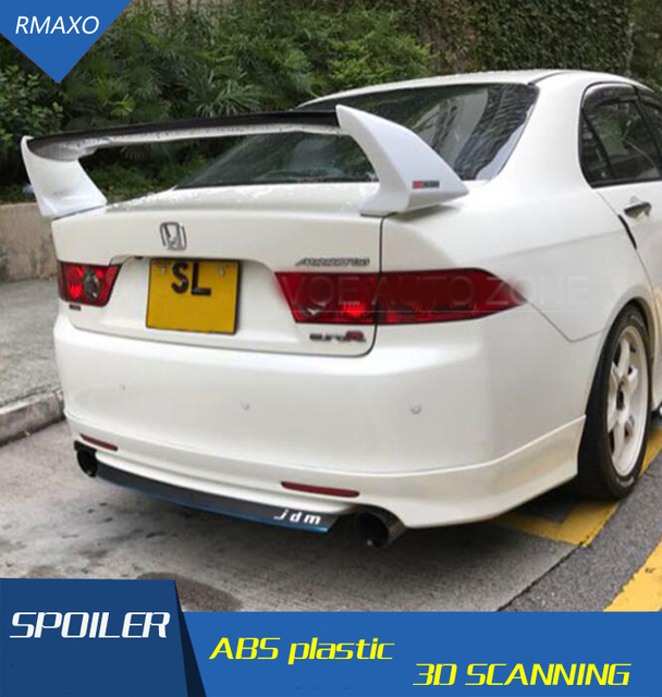 For Honda Accord Euro Rcl7 Spoiler Abs Material Car Rear Wing