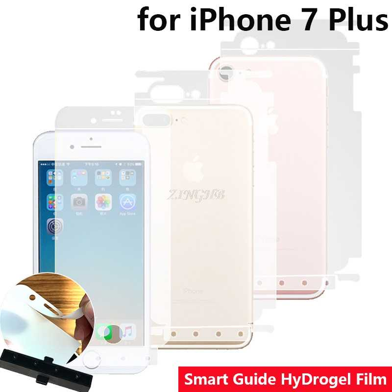 "2 Pcs/Lot Front & Back Auto Fixed Scratch Proof Anti Finger Hydrogel Screen Protector for iPhone 7 Plus 5.5"" Full Cover film"