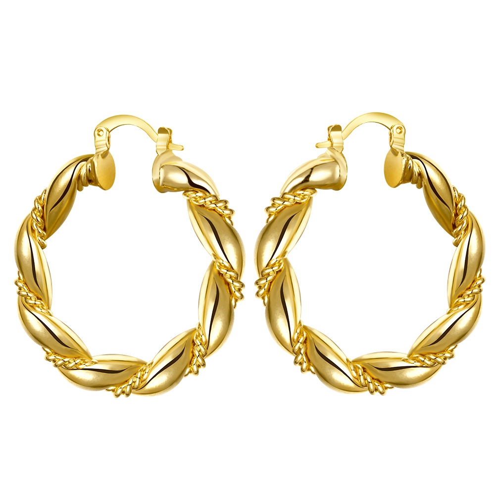 Erluer Hoop Earrings Brincos Ouro Gold Color Basketball Wife Big Circle  Earring For Women Girl Pendientes