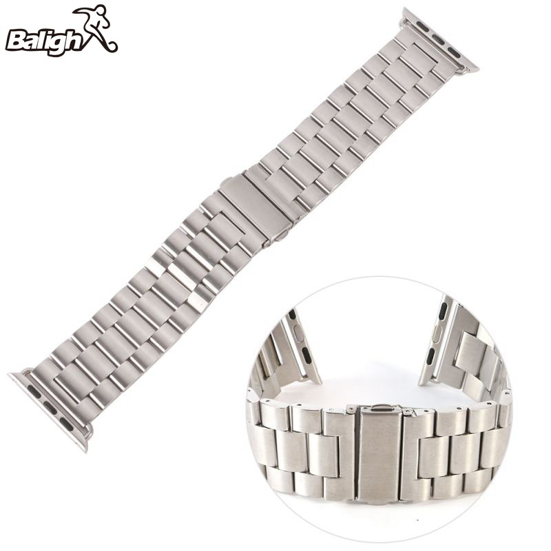 38mm 42mm Solid Metal Stainless Steel Strap Watch Band For Apple Watch Band Watch Chain