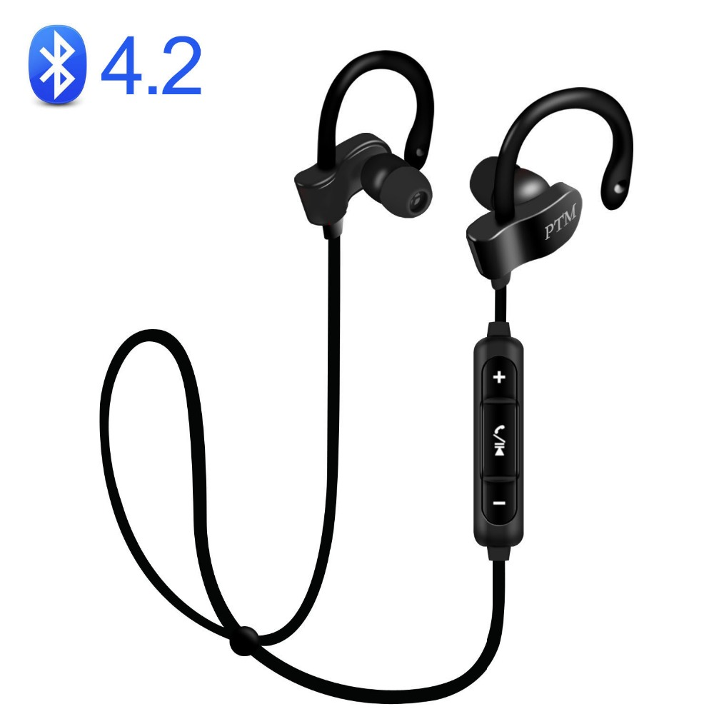 Wireless Musttrue B27 Earphone Bluetooth 4.2 Headset Stereo Earbuds with Microphone For Mobile Phone Fone de ouvido Auriculares wireless headphones bluetooth 4 1 headset stereo earphone with microphone support tf card for iphone pc mobile phone eps33