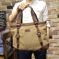 New design Khaki Casual Vintage Multifunction Soft Men's Canvas Travel Handbag Crossbody Shoulder Messenger Bag For Men