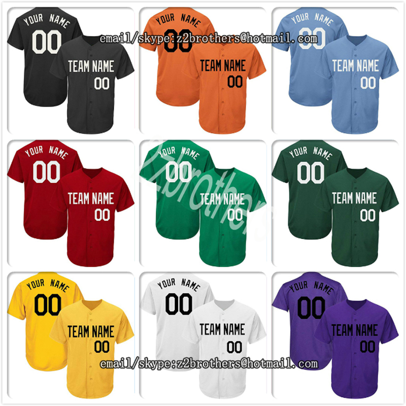 074128b08 Custom Baseball Jersey Men Women Youth Button Down Embroidered Your Own  Design Name Number High School