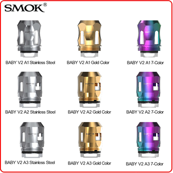 3pcs Original SMOK TFV8 Baby V2 A1 A2 A3 Coil Head Version 2 Octuple Core 0.15ohm 0.17ohm 0.2ohm for Species V8 Baby V2 Atomizer atreseries hd