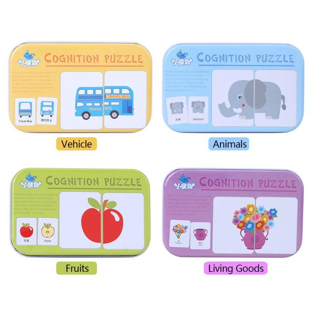 Baby Learning Cards Montessori Baby Learning Toys English Word Flash