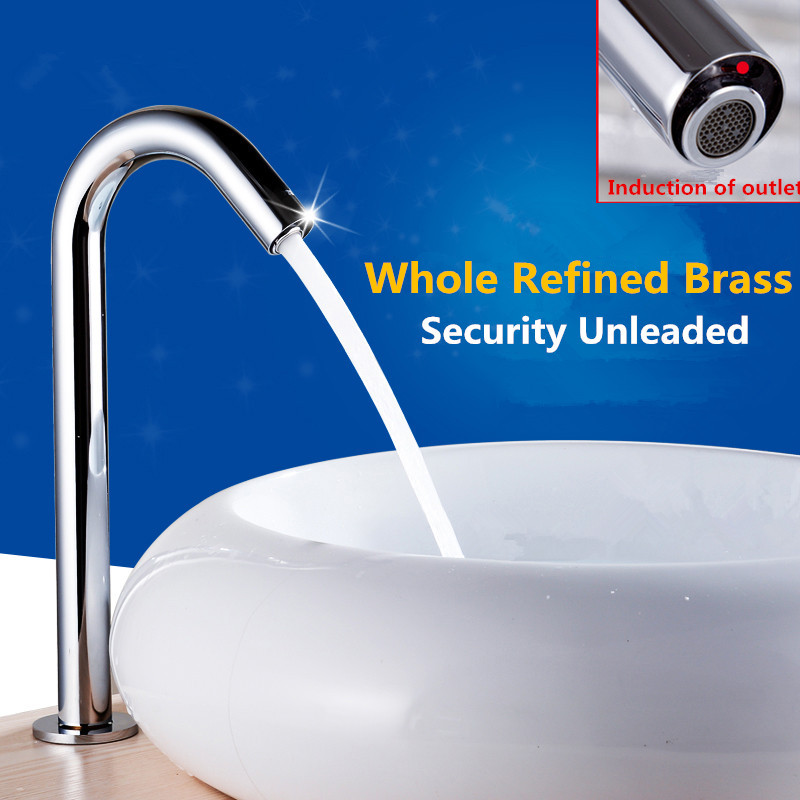 Hands Free Automatic Sensor Tap For Hot & Cold Water Bathroom Basin Electronic Touchless Faucet цена