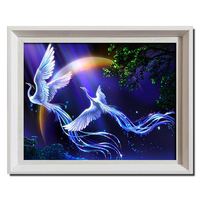New 5d Diy Diamond Painting Animals Birds Lover Phoenix Cross Stitch Round Rhinestone Pictures Of Crystals