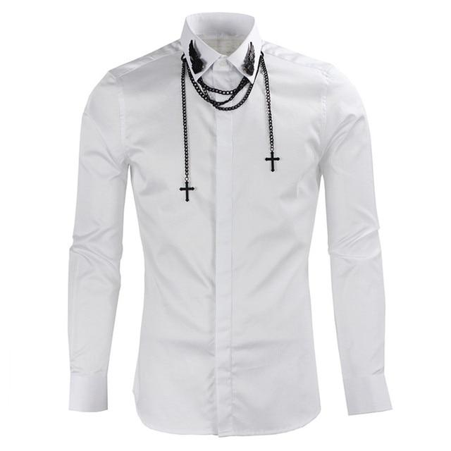 Aliexpress.com : Buy Fashion Casual Man White Business Shirts ...