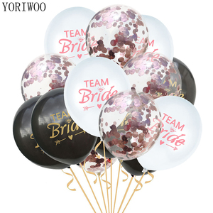 YORIWOO Wedding Party To Be Bride Latex Balloon Confetti Baloon Set Hen Night Bachelorette Party Decorations Team Bridal Shower(China)