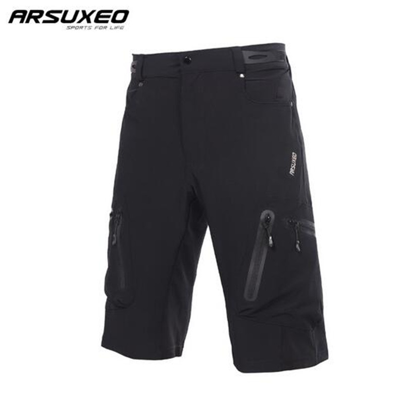 ARSUXEO Mens Outdoor Sports Cycling Shorts Downhill Mountain Bike Shorts Breathable Water Resistant Short Sport