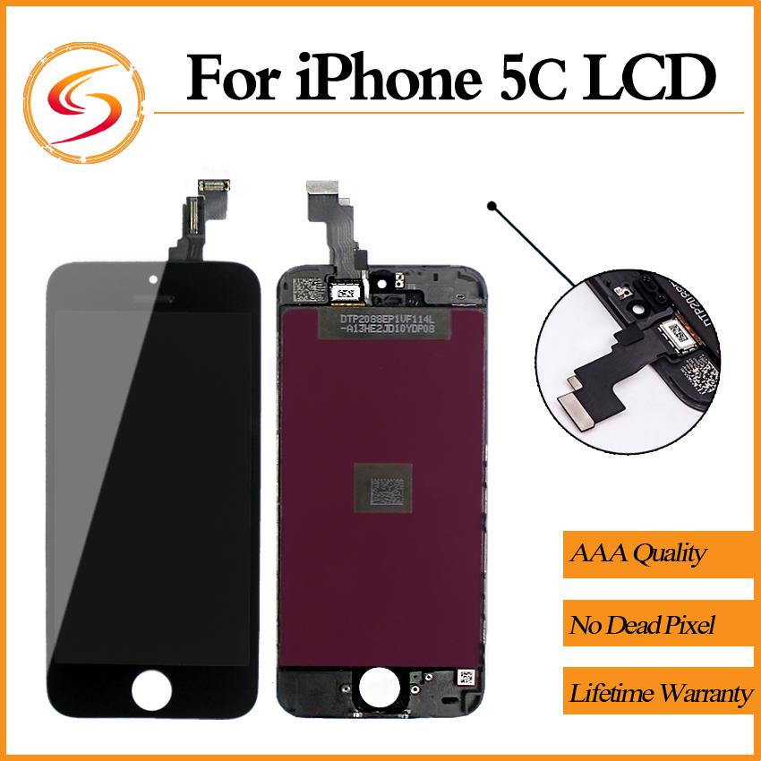 Prix pour Grade AAA + + + Pour iPhone 5C LCD 100% Tout Neuf Avec Écran Tactile Digitizer Assemblée Affichage Remplacement Livraison Gratuite