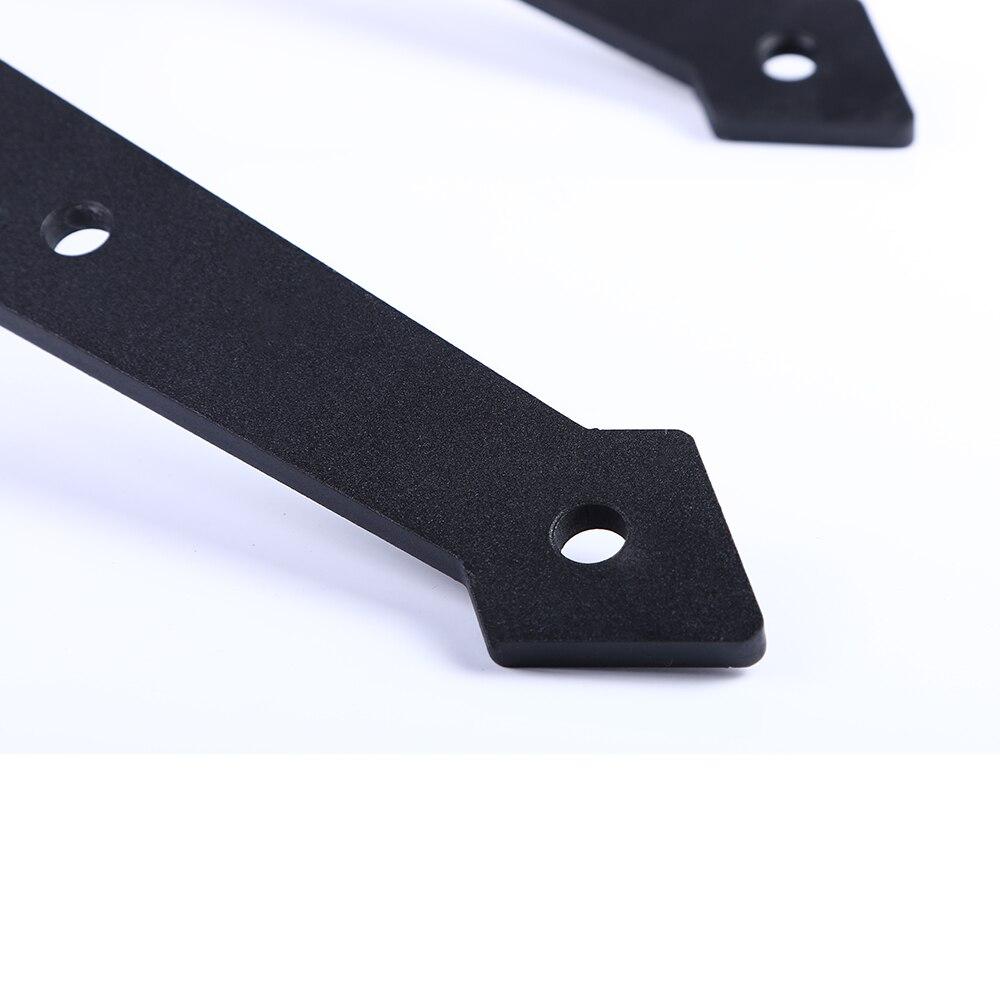 LWZH 16FT/18FT/20FT American Style Sliding Door Hardware Kit Black Steel Arrow Shaped Rail Track Roller for Sliding Double Door