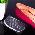 Silicone tape with sticky anti-skid foot arch support heel pad accessories can be affixed to high heels half-code insole