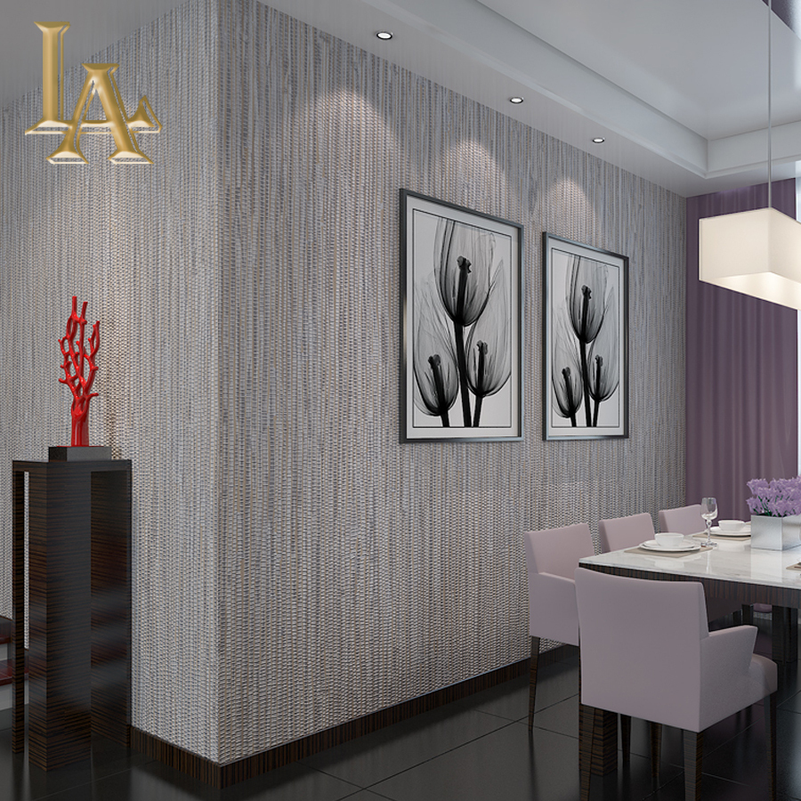 Nonwoven Wall covering Simple Textured Striped Wallpaper Modern Home Decor Bedroom Living room ...