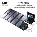 Allpowers cargador solar plegable portable 60 w doble salida puertos portátil panel solar cargador solar cargador de la tableta cargador de teléfono.
