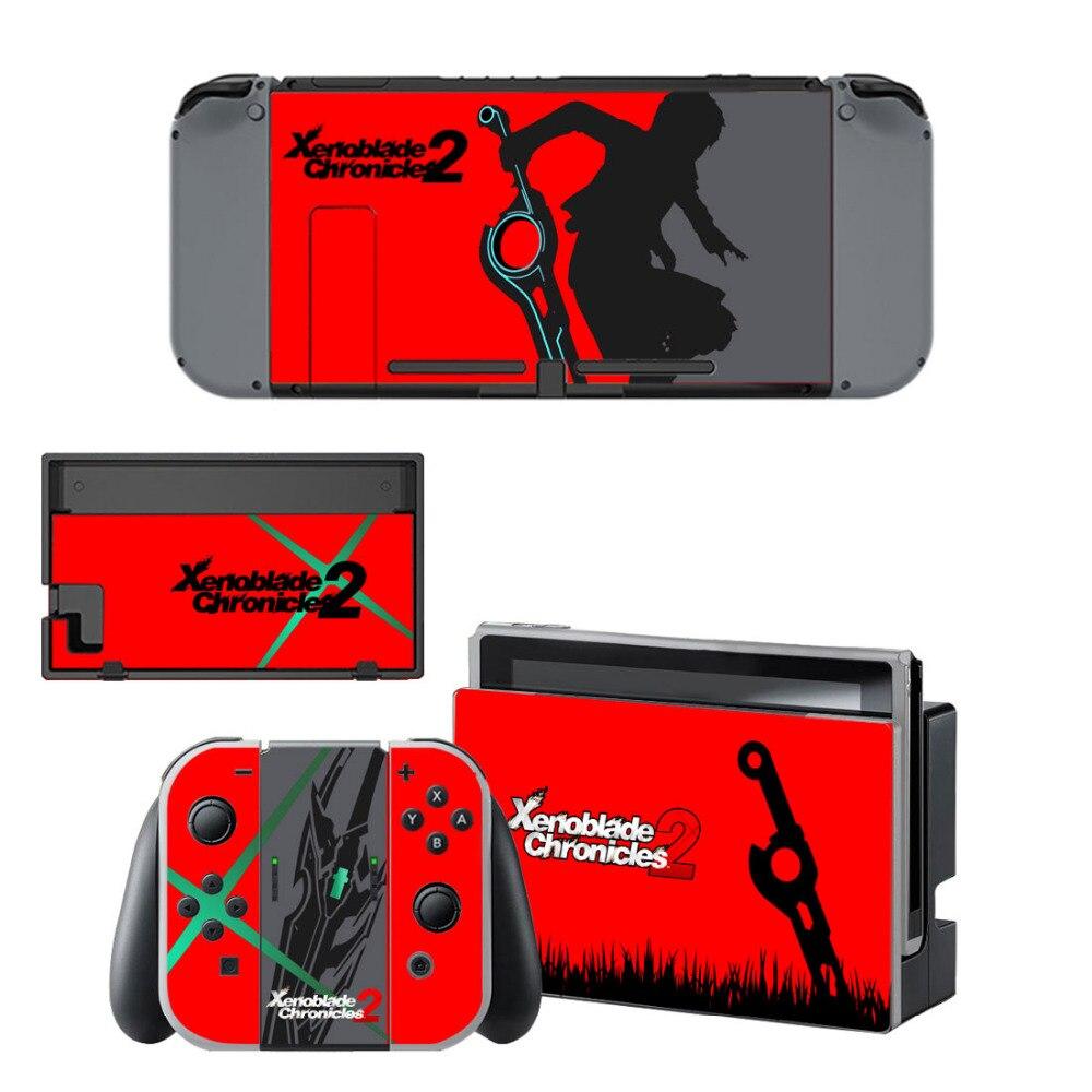 Xenoblade Chronicles 2 Autoadesivo Della Pelle Della Decalcomania Per Nintendo Console e Controller Per NS Interruttore Copertura Della Protezione Della Pelle Sticker