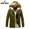 2017 Hooded Korean Style Cotton-Padded Warm Hot Sale Men's Coat Warm Winter Fashion Wear New Style Thick Man Parka Jackets 495