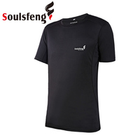 Soulsfeng Men Sport Top Fitness T Shirt Casual Tops Gym Man Quick Dry Summer Wicking Jersey Fashion Athletic Running T Shirt
