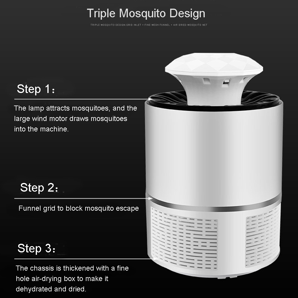 2019 New Electric Mosquito Killer Lamp LED Bug Zapper Anti Mosquito Killer  Bug Insect Trap Lamp Killer Repeller Dropship