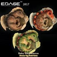 2018 EDAGE Baby Stegosaurus Jurassic World Dinosaur Model Dragon Of Dinosaur Egg Hatching Ancient Adult Collection