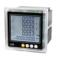 LCD display multifunction DC energy meter DC 0 1000V 0 5A DC A V W KWH panel meter with RS485 communication