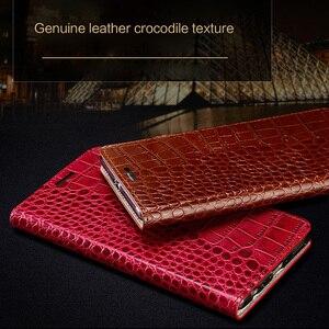 Image 5 - Wangcangli marca de telefone caso genuíno couro de crocodilo textura Lisa 7X handmade caixa do telefone caixa do telefone Para Huawei Honra