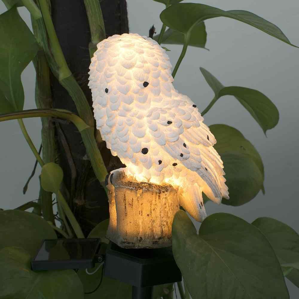 Fashion Uil Shape Solar Gazon Lamp Warm Licht Outdoor Yard Garden Verlichting Decoratie Lamp Solar Tuinverlichting
