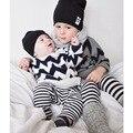Ins * 2016 unisex do bebê das meninas dos meninos de malha de algodão camisolas crianças outono de manga comprida camisola O-pescoço 1-5Y frete grátis confortável