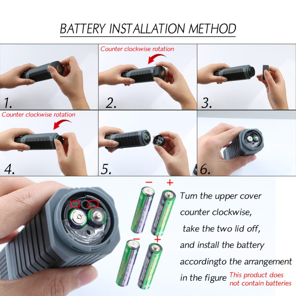Fashion 2 in1 3W COB LED Stretchable Flashlight Torch Working Lamp Camping Light with Strong Magnet