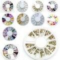 1 rueda Nail Art Decoraciones Rhinestones de Acrílico de La Joyería de Uñas 3D Fimo DIY