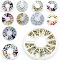 1 wheel  Nail Art Decorations 3D Fimo Rhinestones Acrylic Jewelry for Nails DIY