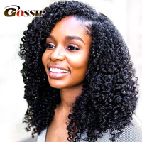 Afro Kinky Curly Lace Front Wigs For Black Women Malaysian Curly Human Hair Wigs Pre Plucked With Baby Hair Gossip Remy Hair